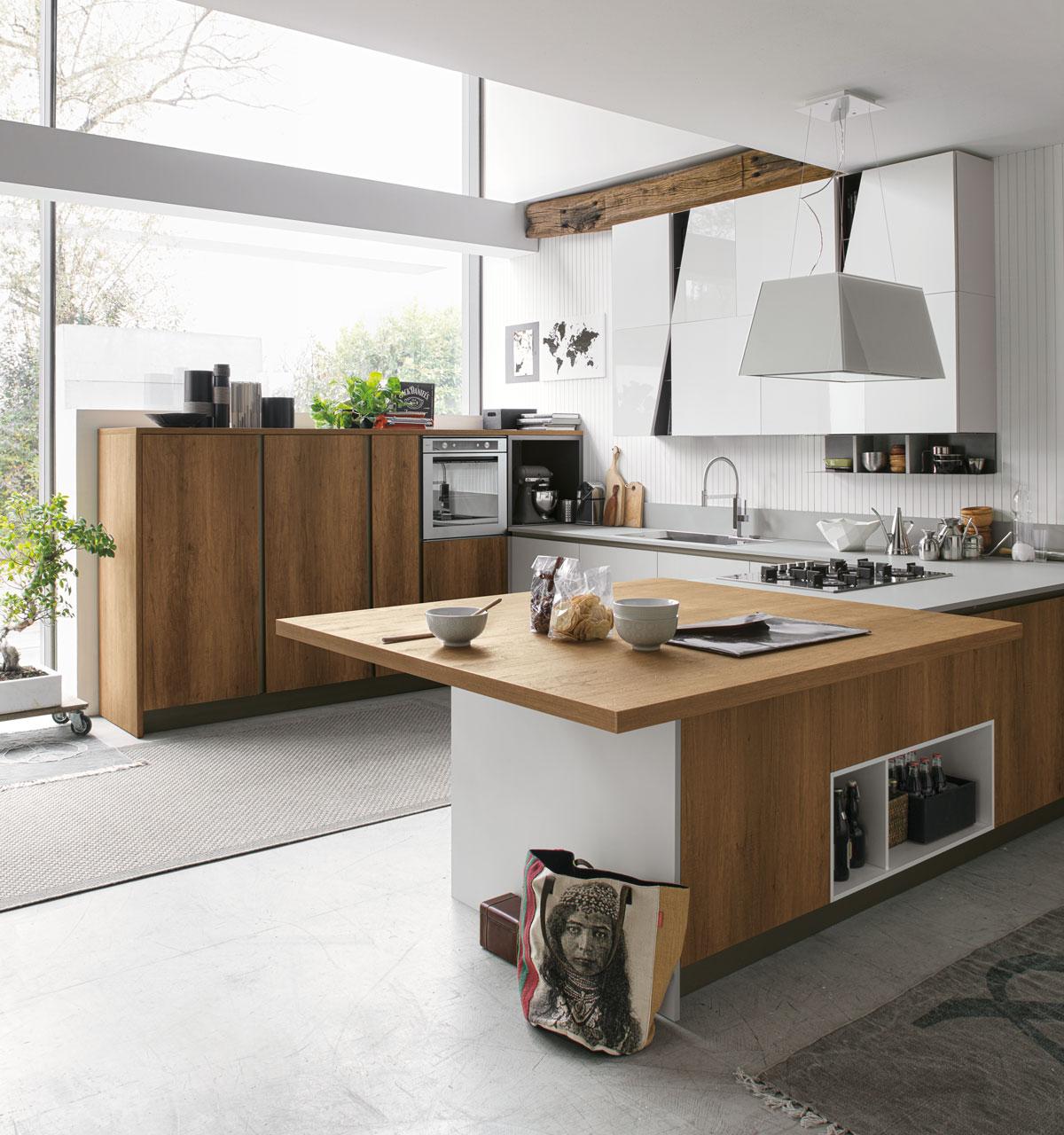 Penisola per cucina piccola for Cucine immagini